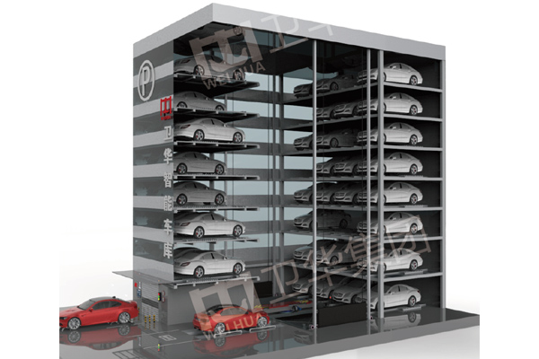 Automated Parking System with Vertical Lift